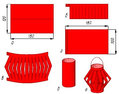 красной бумаги шириной 9