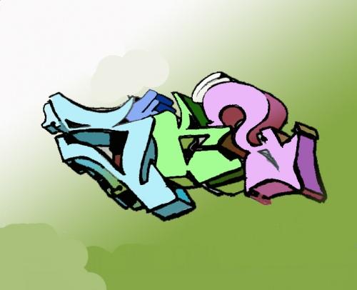 Как нарисовать граффити