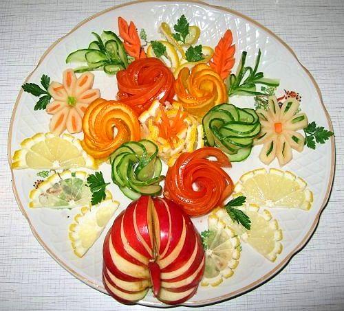 Украшение блюд из фруктов своими руками