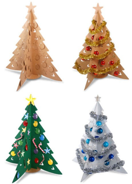 елка из бумаги или картона