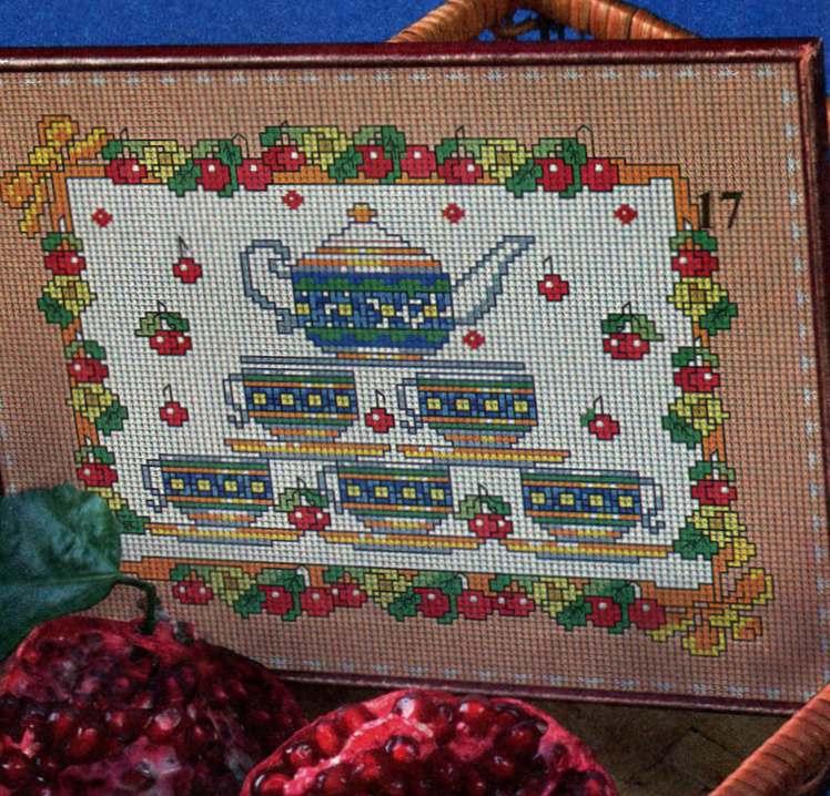 Вышивка крестом. Картина «Чаепитие ...: www.ruchnoi.ru/statya/vyshivka-krestom-kartina-chaepitie