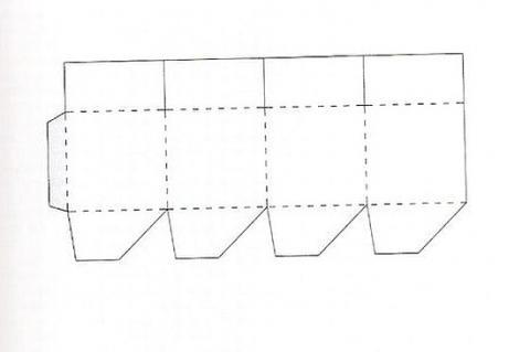 Коробка подарочная 1 схема