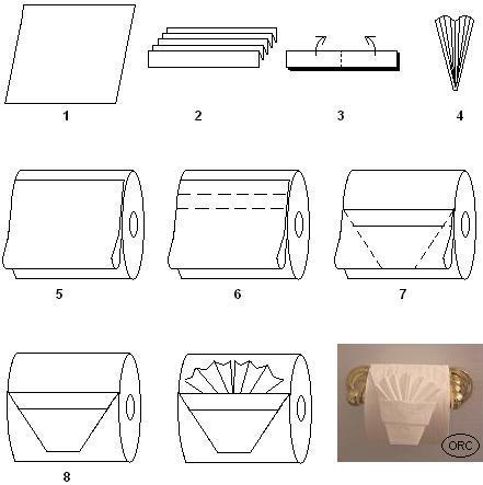 Оригами из туалетной бумаги