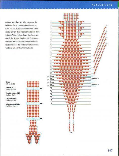 Бисероплетение схема рака