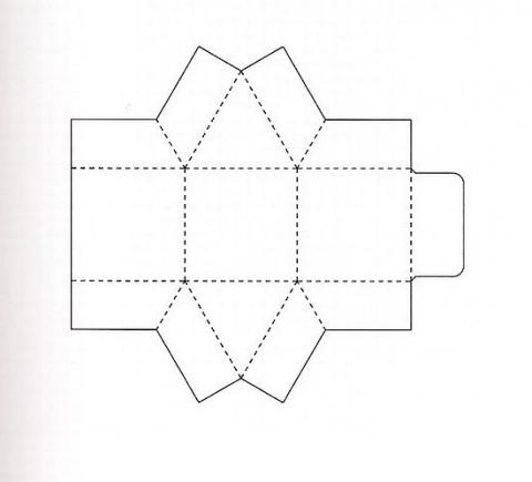 Коробка подарочная 10 схема
