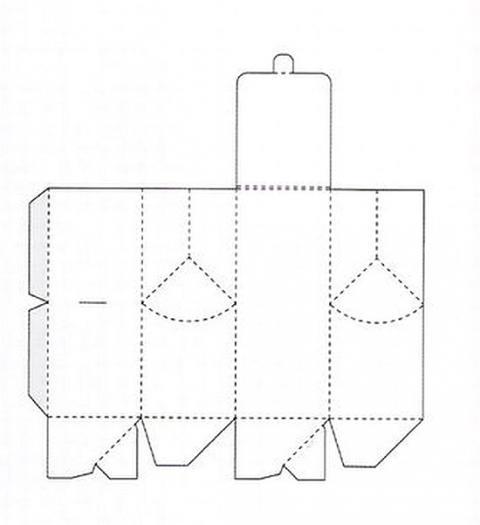 Коробка подарочная 16 схема