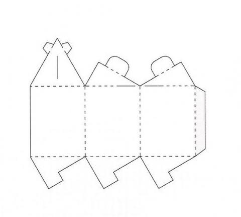 Коробка подарочная 9 схема