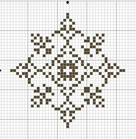 Схема снежинки 13