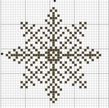 Схема снежинки 6
