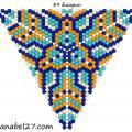 Треугольник из бисера 22.  Головоломки.  Оригами.  Бисероплетение, вышивка бисером и.д. Рисование.