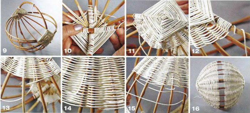 инструкция к плетению корзинки