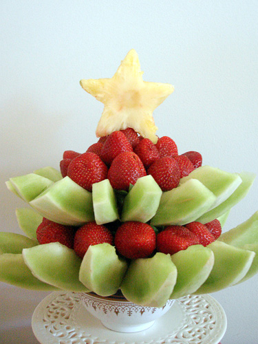 Новогодние украшения из фруктов и овощей Карвинг своими