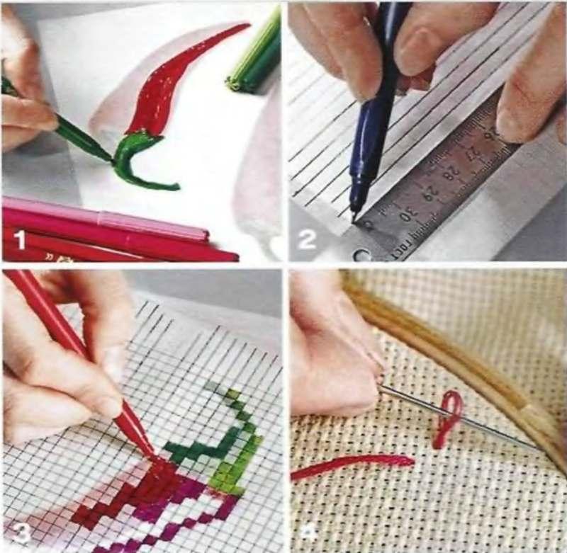 Как делают канву для вышивки 29