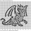 Схема монохром Дракон