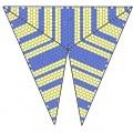 Треугольник из бисера 5