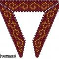 Треугольник из бисера 11