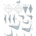 Оригами схема Мышь