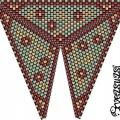Треугольник из бисера 12