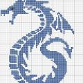 Схема вышивки дракон
