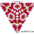 Треугольник из бисера 21