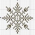 Схема снежинки 9