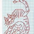 Рисунок по клеткам Кот