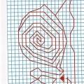Рисунок по клеткам Улитка
