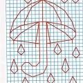 Рисунок по клеткам Зонт