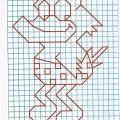 Рисунок по клеткам Утка