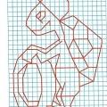 Рисунок по клеткам Черепаха
