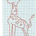 Рисунок по клеткам Жираф