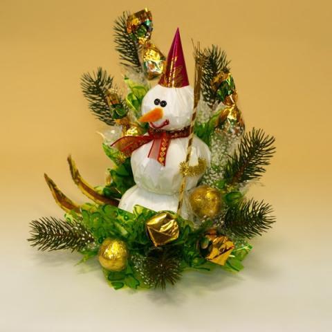 Букет снеговик