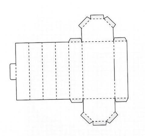 Коробка подарочная 8 схема