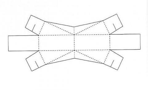 Коробка подарочная 6 схема