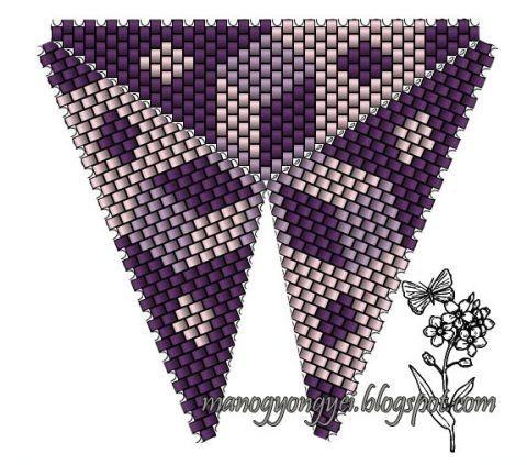 Треугольник из бисера 3
