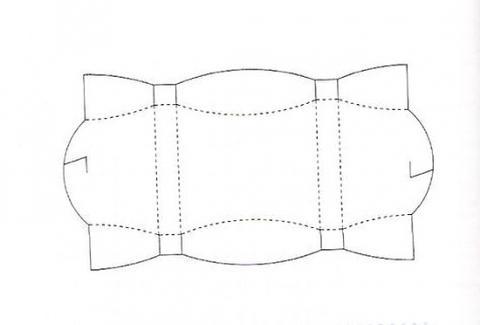 Коробка подарочная 11 схема