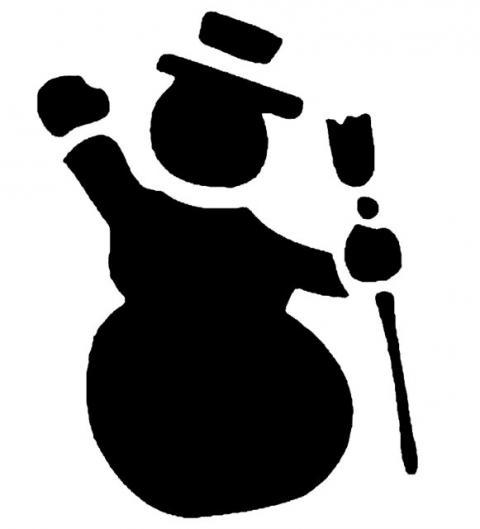 Трафарет снеговик