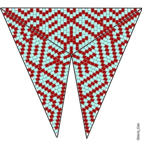 Треугольник из бисера 4