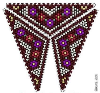 Треугольник из бисера 8