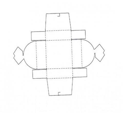 Коробка подарочная 4 схема