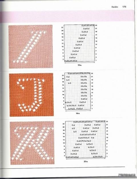 Буквы спицами 4