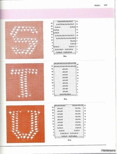 Буквы спицами 8
