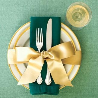 Декор тарелки бантиком