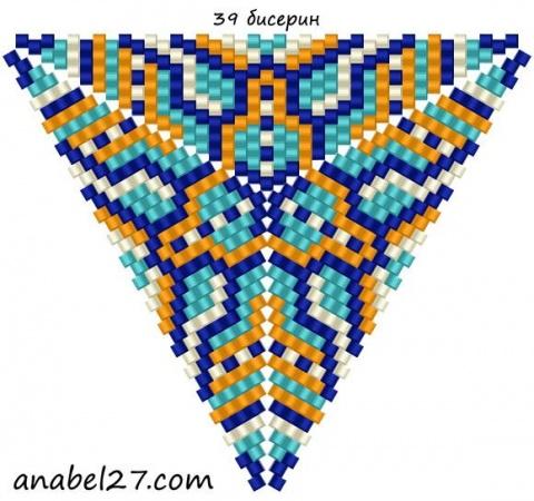 Треугольник из бисера 22