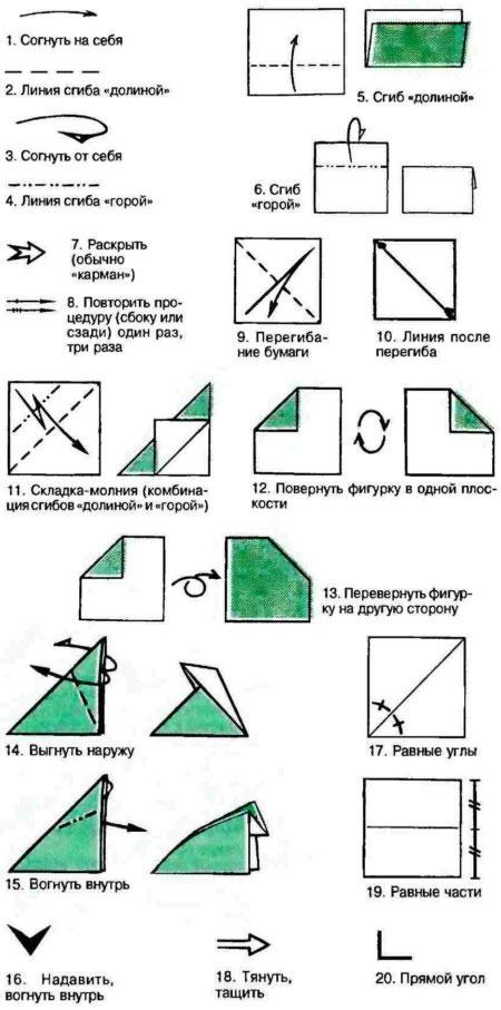 Сгибание из бумаги оригами