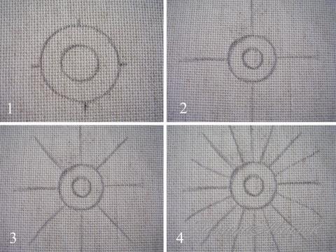Перенос схемы на ткань по шагам