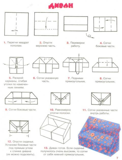Как сделать из бумаги шкаф поэтапно