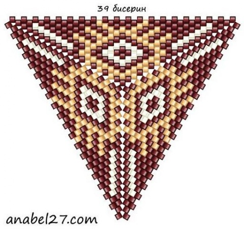 Треугольник из бисера 19