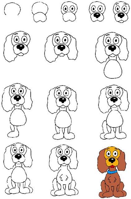 Собака рисунок карандашом