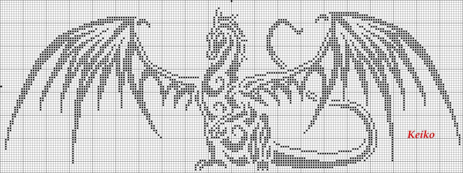 Дракон схема для вышивки бисером 80